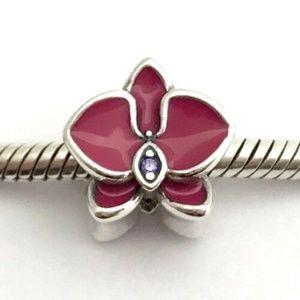 PANDORA Radiant Orchid Enamel & Purple CZ Charm